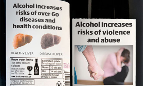 Alcohol warning label